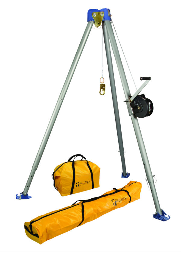 FallTech 7505 60' Tripod Kit - Available with Galvanized or Stainless Cable