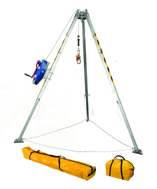 FallTech 7508 60' Tripod Kit with Galvanized Steel Cable