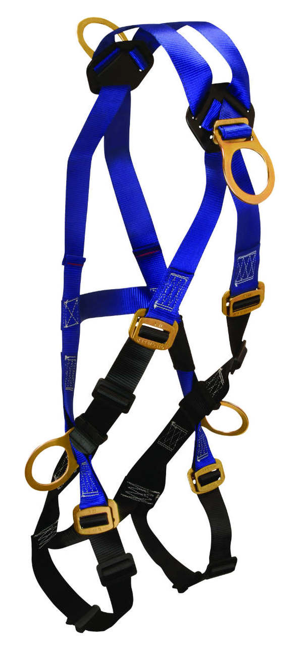 FallTech 7019B Contractor Climbing Harness, 4 D-Rings, Mating Buckle Legs and Chest.  Available in 2 sizes.
