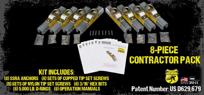8 Piece Contractor Pack - Includes 8 Anchors and Nylon Tip Set Screws