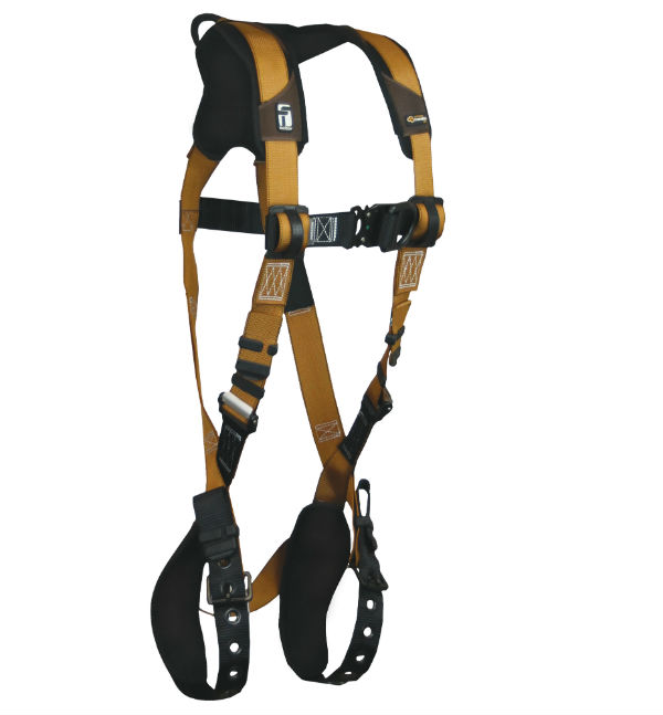 FallTech 7080BFD Harness, Advanced ComfortTech Gel, Non-Belted Climbing, 1 Back and 1 Chest D-Ring.  Available in 4 Sizes.
