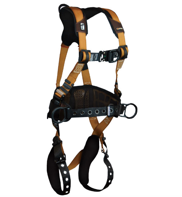 FallTech 7081BFD Climbing Harness, Advanced ComforTech Gel, Construction Belted, 3 D-Rings, Available in 4 Sizes.