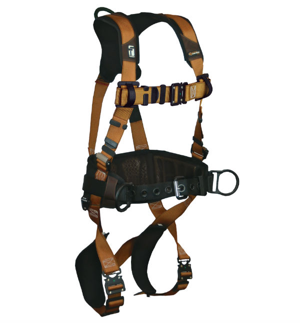 FallTech 7083B Advanced ComforTech Harness, Belted, 3 D-Rings, Quick Connect Chest and Leg Buckles, Available in 6 Sizes.