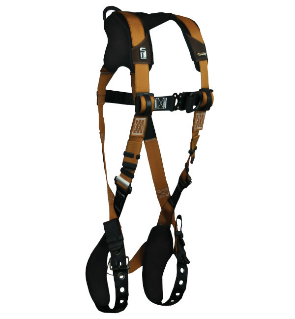 FallTech 7083BFD Climbing Harness, Advanced ComforTech Gel, Construction Belted, Back-Chest-Hip D-Rings, Quick Connect Chest and Leg Buckle, Available in 4 Sizes.