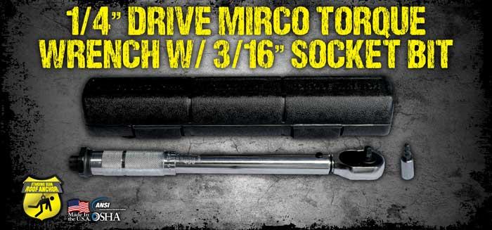 "1/4"" Drive Micro Torque Wrench w/ 3/16"" socket bit"