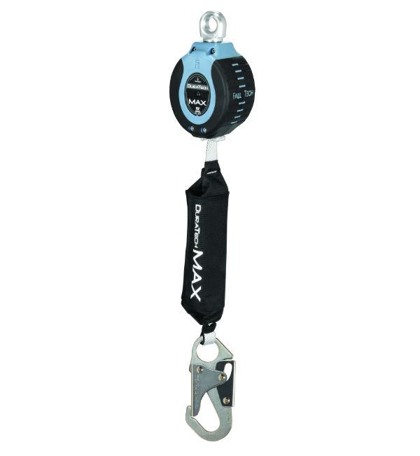 FallTech 82709SA1 Dura Tech Max 9' Single Leg SRD, Swivel Eye and Steel Snap Hook