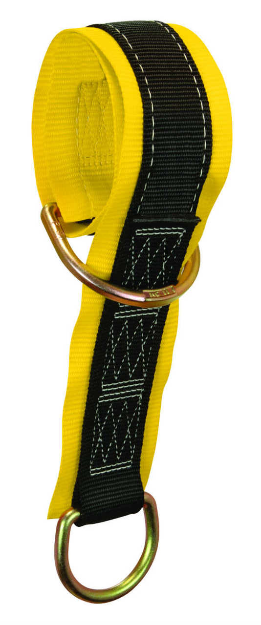"""FallTech Web Pass-Thru Anchor Sling w/ 2 D-Rings and 3"""" Wear Pads, Available in 10 Lengths 2'-30'."""