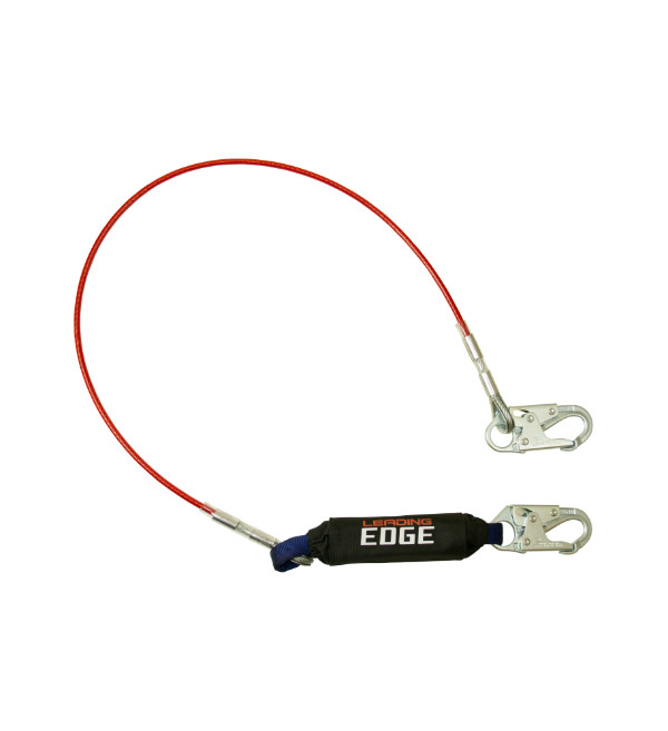 FallTech 8354LE 6' Leading Edge Lanyard with Steel Snap Hooks