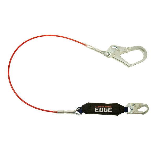 FallTech 8354LE3 6' Leading Edge Lanyard with Steel Snap Hook and Rebar Hook
