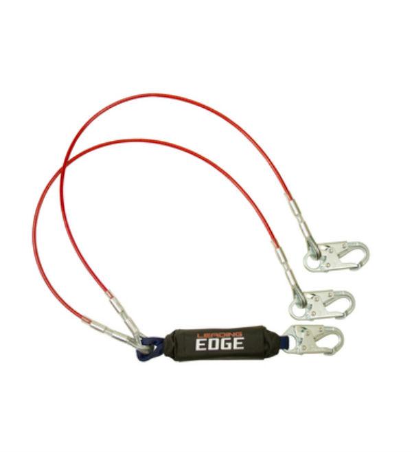 FallTech 8354LEY 6' Leading Edge Lanyard Y-Leg with Steel Snap Hooks