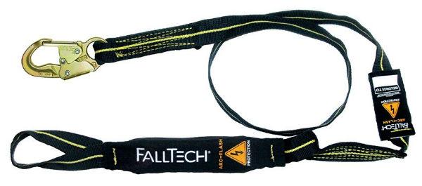 FallTech 8242L 6' Arc Flash Lanyard, Single Leg, 1 Loop and 1 Steel Snap Hook, Kevlar and Nomex Web