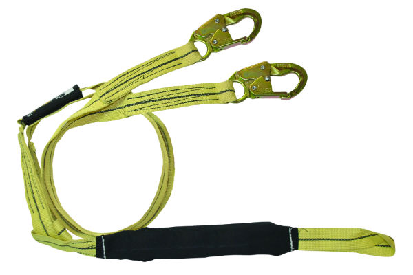FallTech 8242YL 6' Arc Flash Y-Leg Lanyard, 1 Loop w/ 2 Steel Snap Hooks, Kevlar and Nomex Web