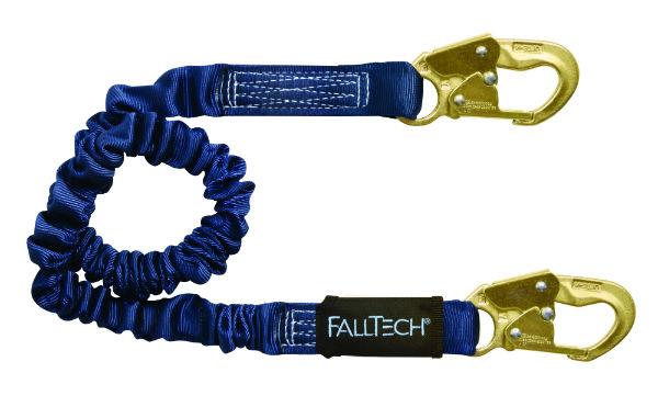 FallTech 8240 Elastech Internal Elastic, Expands 4.5' to 6', Single leg w/ 2 Steel Snap Hooks