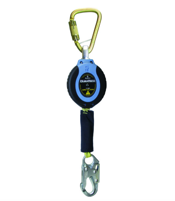 FallTech 82911SC1 11' Dura Tech Arc Flash SRD, Single Leg with Steel Carabiner and Steel Snap Hook