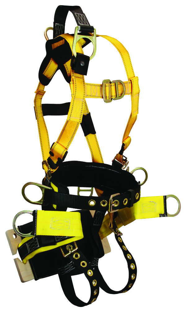 FallTech 8001B Roughneck Bosun Derrick Harness, 7 D-Rings, Available in 4 Sizes