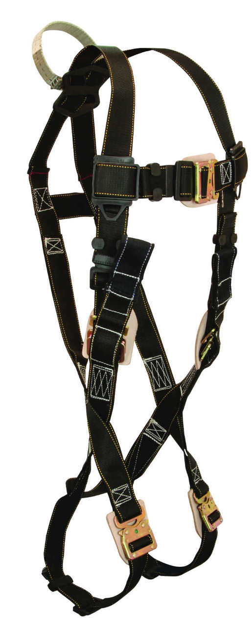 FallTech 8087 Arc Flash Harness, Non-Belted, Leather Insulators, 1 Back D-Ring.  Available in 4 Sizes.