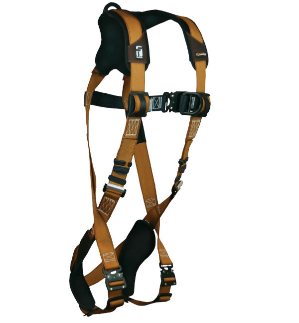 FallTech 7082BFD Advanced ComforTech Gel Harness, Non-Belted Climbing, 1 Chest and 1 Back D-Ring, 4 Sizes Available