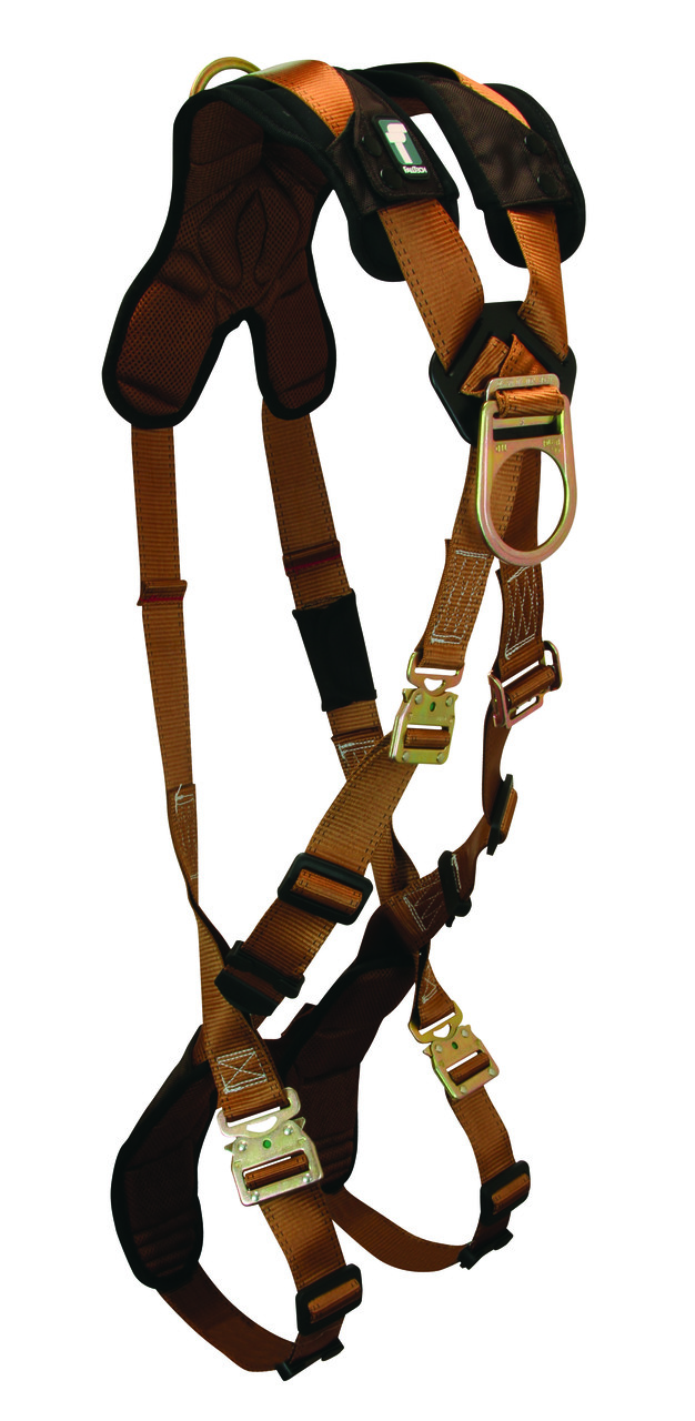 FallTech 70672D ComforTech Climbing Crossover Harness, 2 D-rings Back and Chest, 2 Sizes Available