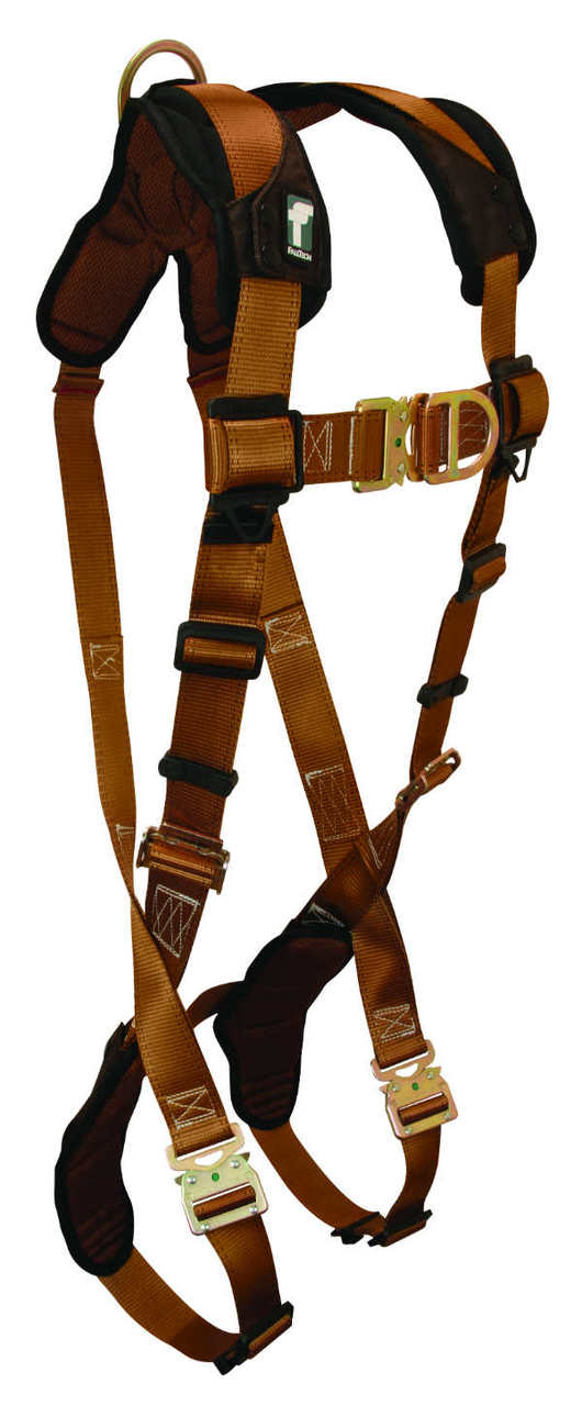 FallTech 7082SFD Belted Climbing Harness, 2 D-Rings Front and Back, 4 Sizes Available