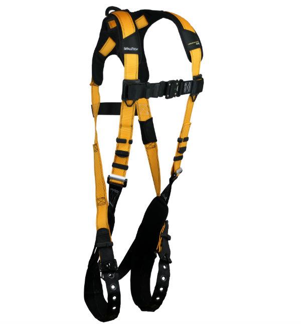 FallTech 7021B Journeyman Flex Aluminum Harness, 1 D-Ring, 3 Sizes Available