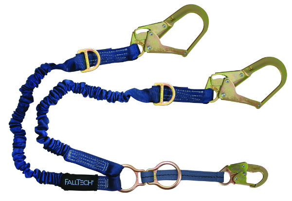 FallTech 8240Y32D2R Elastec Internal Elastic Harness, Adjustable Y-Leg, 1 Snap Hook and 2 Rebar Hooks