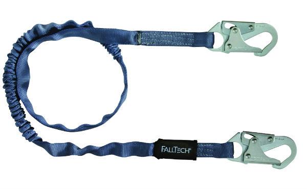 FallTech 8259 Internal Tubular Web Lanyard, Single Leg w/ 2 Snap Hooks