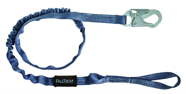 FallTech 8259L Internal Tubular Web Lanyard, 1 Loop and 1 Snap Hook