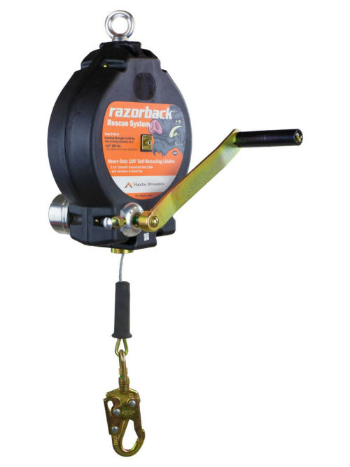 Malta R0003 100' 3-Way Recovery Self-Retracting Lifeline