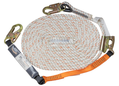Malta C7051 25' Vertical Lifeline Assembly including Rope Grab Lanyard