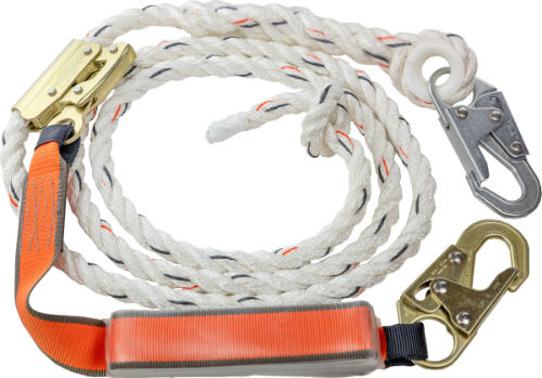 Malta C7050 50' Vertical Lifeline Assembly including Rope Grab Lanyard