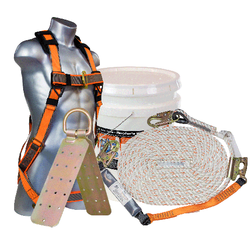 Malta Roofer's Bucket Kit - 25' and 50' Rope Lengths