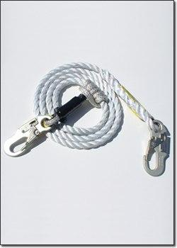 Super Anchor 50' 3-Strand Value Lifeline + 4015-V Rope Grab & 3600lb Snap-hook