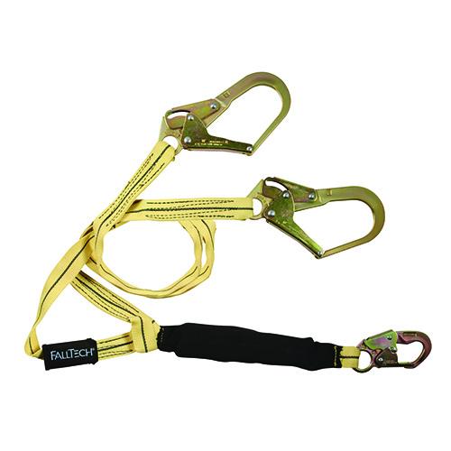 Falltech 8242 Y3 6' SAL Y-Legs; WeldTech with  1 Snaphook and 2 Rebar Hooks