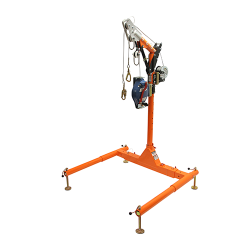 """Falltech 5pc Confined Space Davit System 12"""" to 29"""" w/60' Winch + 60' SRL-R"""