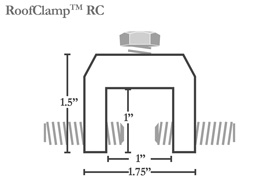 Roof Clamp RC - Fits 90% of today's standing seam profiles!