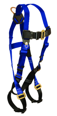 Falltech 7015 Contractor Harness, 1 Back D-Ring, Available in 4 Sizes