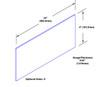 4in x 24in .040ga, PVC, Vinyl Mop Plate - Drawing