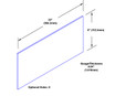 6in x 23in .040ga, PVC, Vinyl Mop Plate - Drawing