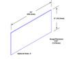 6in x 33in .040ga, PVC, Vinyl Mop Plate - Drawing