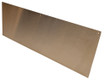12in x 24in - .040, Muntz, Mirror Finish, Brass Kick Plates - Close Up - Countersunk Holes