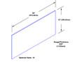12in x 36in - .040, Muntz, Mirror Finish, Brass Kick Plates - On Door - Drawing