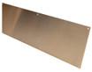 12in x 36in - .040, Muntz, Mirror Finish, Brass Kick Plates - Side View - Countersunk Holes