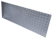 8in x 37in - .125, Tread Brite, Mirror Finish, Diamond Plate Mop Plates - Close Up - Countersunk Holes