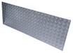 12in x 47in - .125, Tread Brite, Mirror Finish, Diamond Plate Kick Plates - Close Up - Countersunk Holes