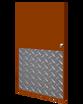 32in x 21in - .125, Tread Brite, Mirror Finish, Diamond Plate Armor Plates - On Door