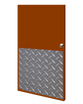 32in x 41in - .125, Tread Brite, Mirror Finish, Diamond Plate Armor Plates - On Door