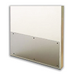 32in x 32in .042'', Clear, Polycarbonate Kick Plate with Holes & Screws