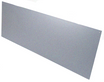 10in x 25in - .040, 5052, Satin #4 (Brushed) Finish, Aluminum Kick Plates - Side View -  Holes