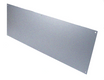 4in x 25in - .040, 5052, Satin #4 (Brushed) Finish, Aluminum Mop Plates - Side View - Countersunk Holes