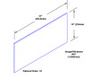 10in x 37in - .063, Tread Brite, Mirror Finish, Diamond Plate Kick Plates - On Door - Drawing